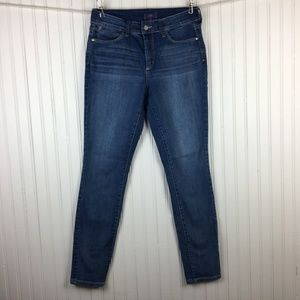 NYDJ Super Skinny Medium Wash Distressed Jeans